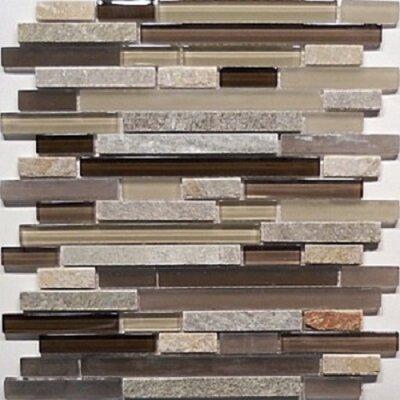 Bar Quartz 0.63 x 0.63 Natural Stone Mosaic Tile in Chocolate