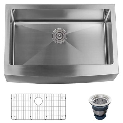 Stainless Steel 30 x 21 Farmhouse Kitchen Sink with Apron Front