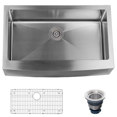 Stainless Steel 33 x 21 Farmhouse Kitchen Sink with Apron Front