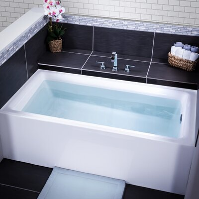 Vitality 60 x 30 Three Wall Alcove Soaking Bathtub Drain Location: Right