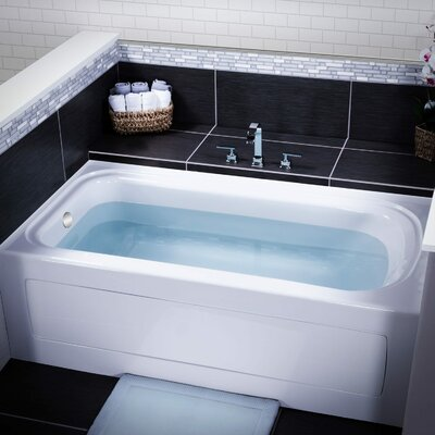 Indulgence 60 x 32 Three Wall Alcove Soaking Bathtub Drain Location: Left