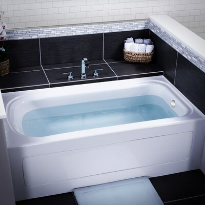 Indulgence 60 x 32 Three Wall Alcove Soaking Bathtub Drain Location: Right