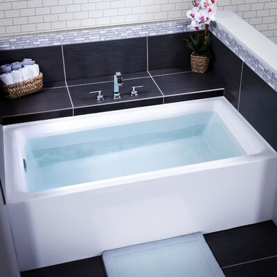 Vitality 60 x 32 Alcove Soaking Bathtub Drain Location: Left