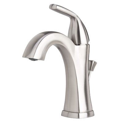 Elysa Single Handle Bathroom Faucet with Drain Assembly Finish: Brushed Nickel