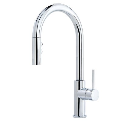 Gemma Multi-Flow Spray Pull Out Single Handle Kitchen Faucet Finish: Polished Chrome
