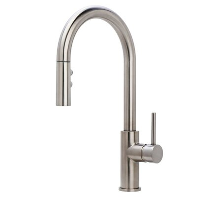 Gemma Multi-Flow Spray Pull Out Single Handle Kitchen Faucet Finish: Stainless Steel