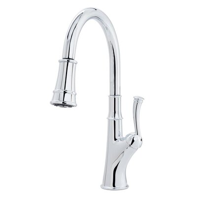 Caeli Multi-Flow Spray Pull Out Single Handle Kitchen Faucet Finish: Polished Chrome