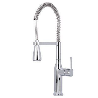 Chico Commercial Style Pre-Rinse Pull Down Single Handle Kitchen Faucet Finish: Polished Chrome