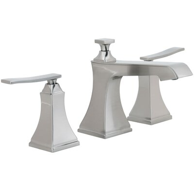 Elysa Widespread Double Handle Bathroom Faucet with Drain Assembly Finish: Brushed Nickel