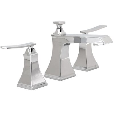 Elysa Widespread Double Handle Bathroom Faucet with Drain Assembly Finish: Polished Chrome