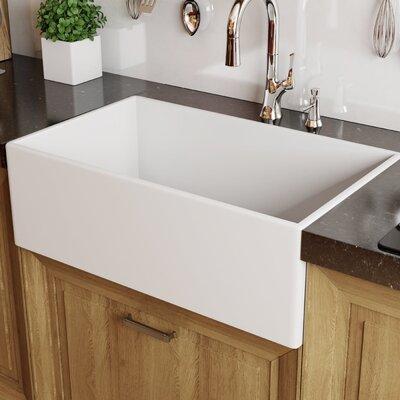 Modena Fireclay 33 x 18 Farmhouse Kitchen Sink