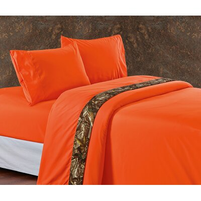 Cerritos Oak Timber 350 Thread Count Sheet Set Size: Twin, Color: Orange