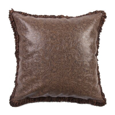 Maolis Embossed Leather Euro Sham