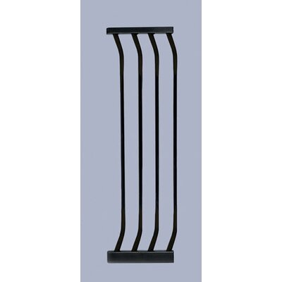 Pet Gate Extension Size: Small ( 29.5 H x 3.5 W), Color: Black