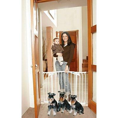 Hallway Pet Gate Finish: White