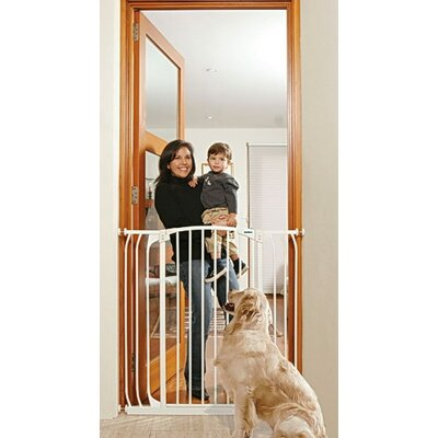 Extra Tall Hallway Pet Gate Finish: White