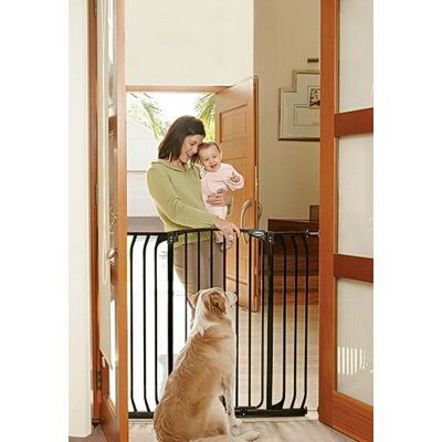 Extra Tall Hallway Pet Gate Finish: Black