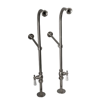2 Piece Freestanding Bath Supplies with Stops Finish: Polished Chrome