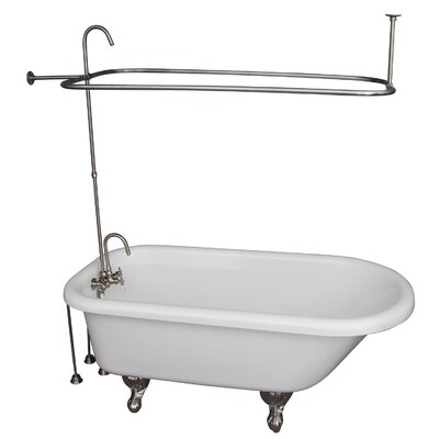 67 x 29.5 Soaking Bathtub Kit Finish: Brushed Nickel