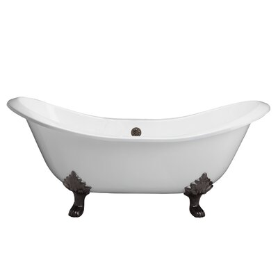 Marshall 71 x 30 Soaking Bathtub Finish: Oil Rubbed Bronze