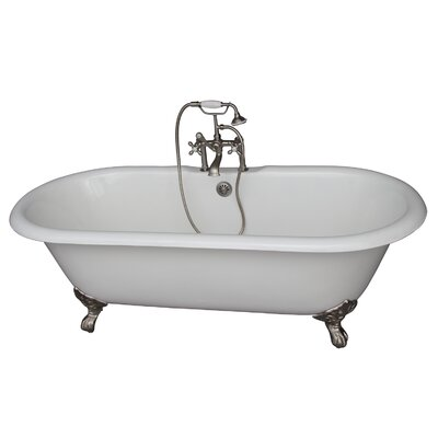 60.75 x 31 Soaking Bathtub Kit Finish: Brushed Nickel