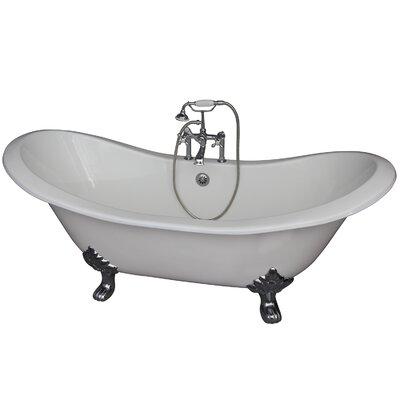 71 x 30.5 Soaking Bathtub Kit Finish: Chrome