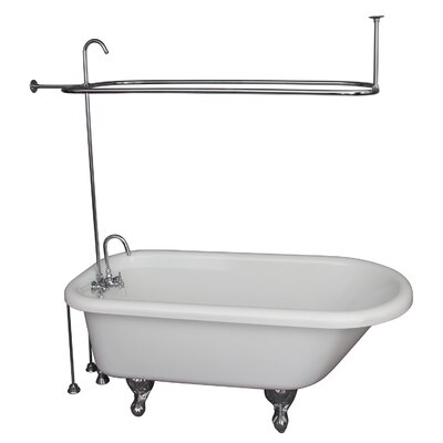 60 x 29.5 Soaking Bathtub Kit Finish: Chrome
