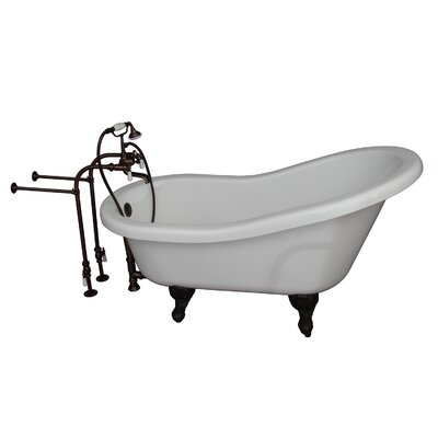 60 x 29.25 Soaking Bathtub Kit Finish: Oil Rubbed Bronze