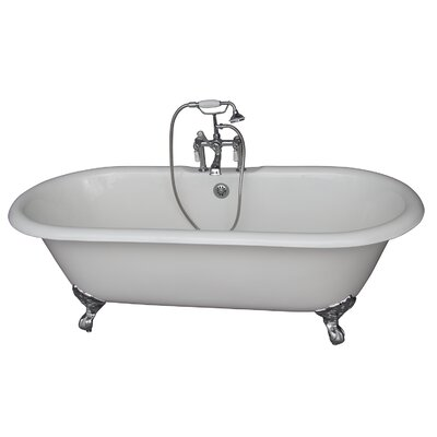 67 x 31 Soaking Bathtub Kit Finish: Chrome