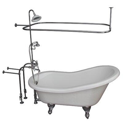 60 x 29.5 Soaking Bathtub Kit Finish: Chrome
