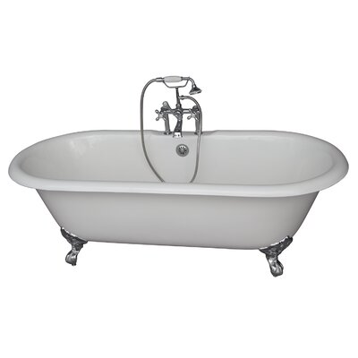 60.75 x 31 Soaking Bathtub Kit Finish: Chrome