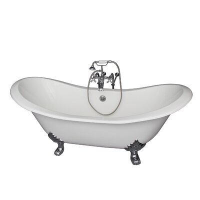 71 x 30.5 Soaking Bathtub Kit Finish: Chrome