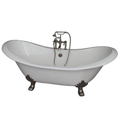 71 x 30.5 Soaking Bathtub Kit Finish: Brushed Nickel