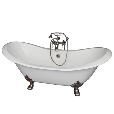 71 x 30.5 Soaking Bathtub Kit Finish: Brushed Nickel