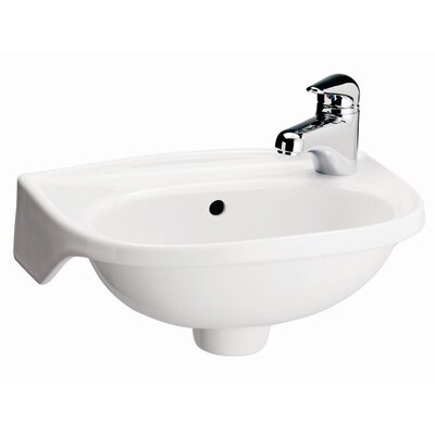Tina Vitreous China 16 Wall Mount Bathroom Sink with Overflow Sink Finish: White