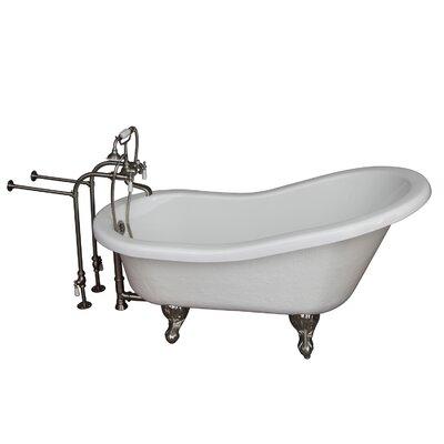 60 x 24.5 Soaking Bathtub Kit Finish: Brushed Nickel