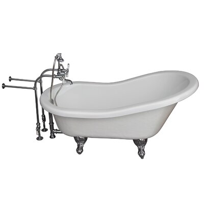 60 x 24.5 Soaking Bathtub Kit Finish: Chrome