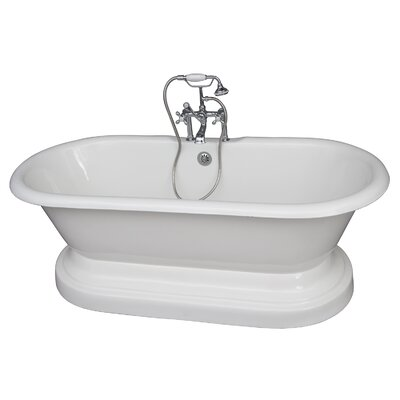 67 x 23.25 Soaking Bathtub Kit Finish: Chrome