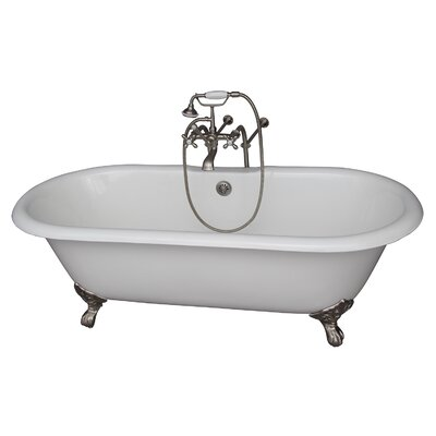 67 x 23.25 Soaking Bathtub Kit Finish: Brushed Nickel