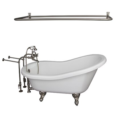 60 x 30 Soaking Bathtub Kit Finish: Brushed Nickel