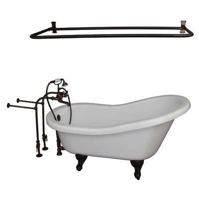 60 x 30 Soaking Bathtub Kit Finish: Oil Rubbed Bronze