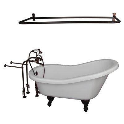 60 x 30 Soaking Bathtub Kit Finish: Oil Rubbed Bronze