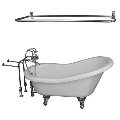 60 x 30 Soaking Bathtub Kit Finish: Chrome