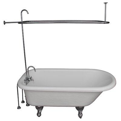 67 x 29.5 Soaking Bathtub Kit Finish: Chrome