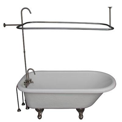 67 x 29.5 Soaking Bathtub Kit Finish: Brushed Nickel