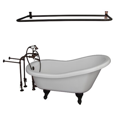 67 x 30  Soaking Bathtub Kit Finish: Oil Rubbed Bronze
