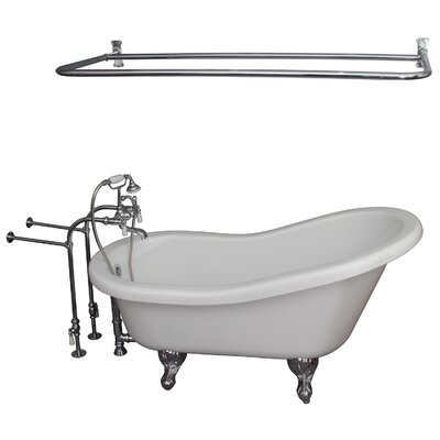 67 x 30  Soaking Bathtub Kit Finish: Chrome