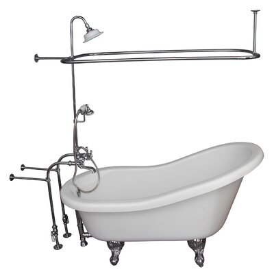 67 x 30 Soaking Bathtub Kit Finish: Chrome