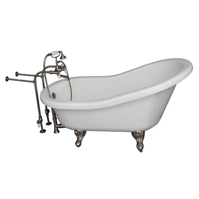 67 x 30 Soaking Bathtub Kit Finish: Brushed Nickel