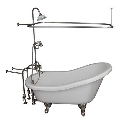 67 x 30 Soaking Bathtub Kit Finish: Brushed Nickel